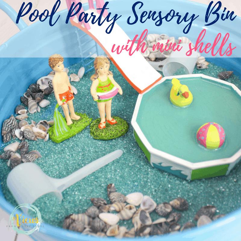 pool party sensory bin square