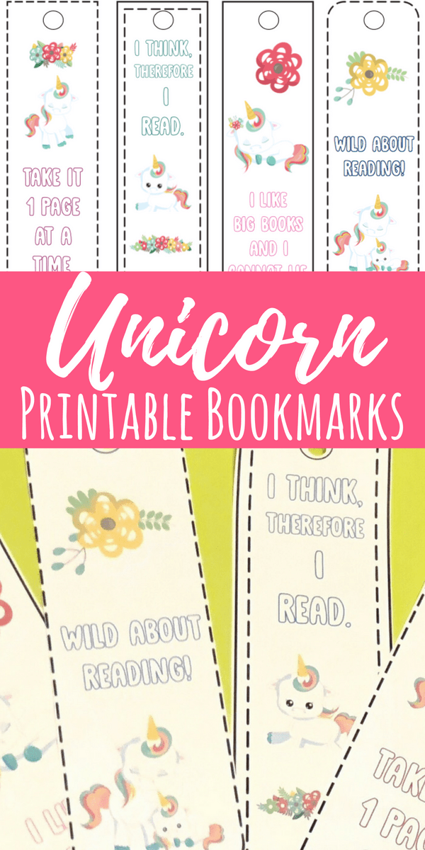 These printable unicorn bookmarks are perfect to use with little readers! They are funny and cute, perfect for all ages. #printablebookmarks #unicorns #kidsactivities #kisdcrafts
