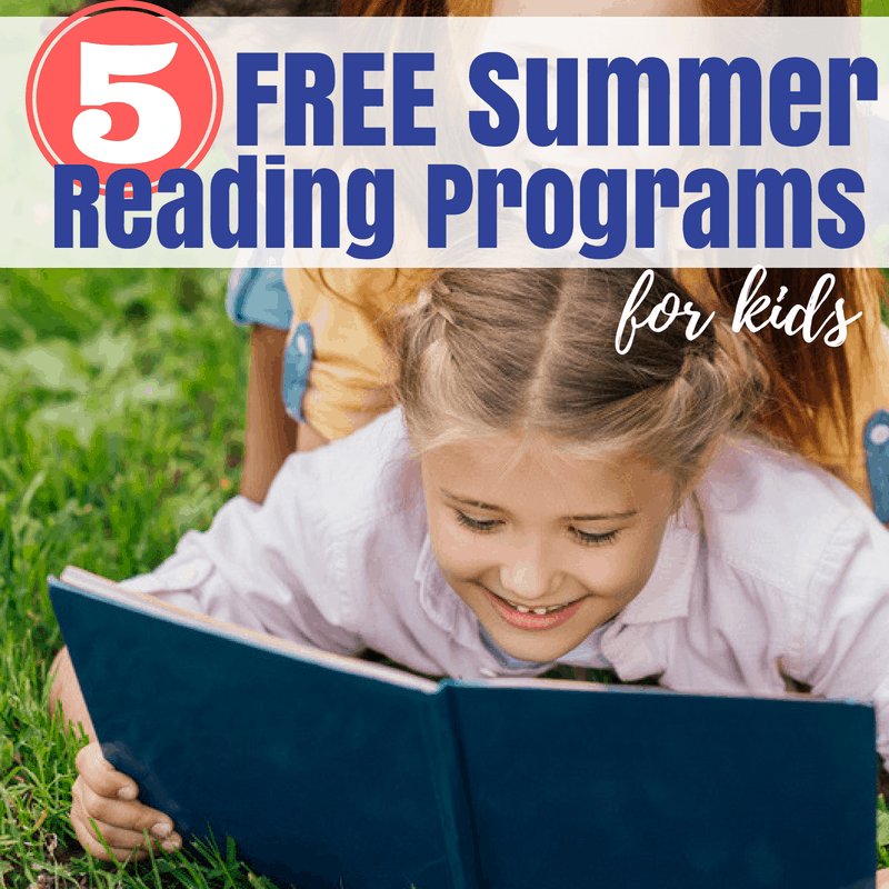 Summer reading programs are great for incentivizing kids to read over summer break. Here are 5 free programs to join that are fun for kids!  #summerreading #kidsactivities #readwithkids #kidsbooks #summerkidsactivities