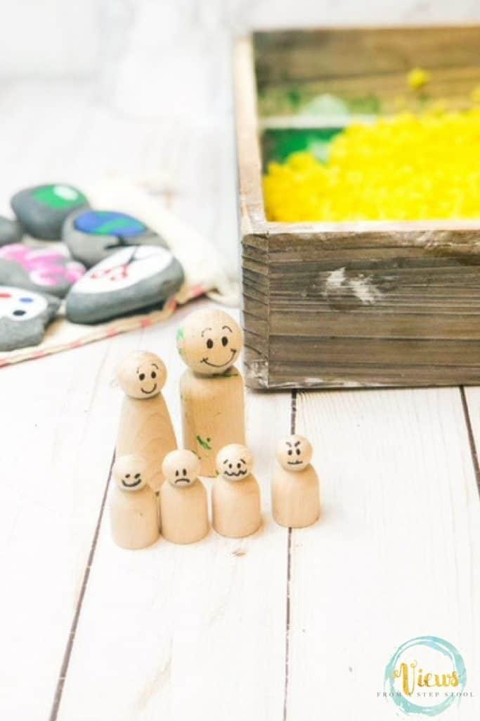 wooden emotion dolls