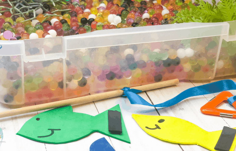 fishing sensory bin hero