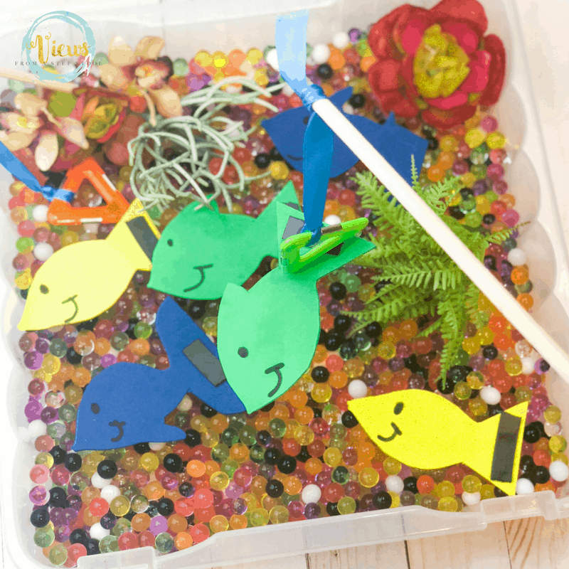 fishing sensory bin square 2