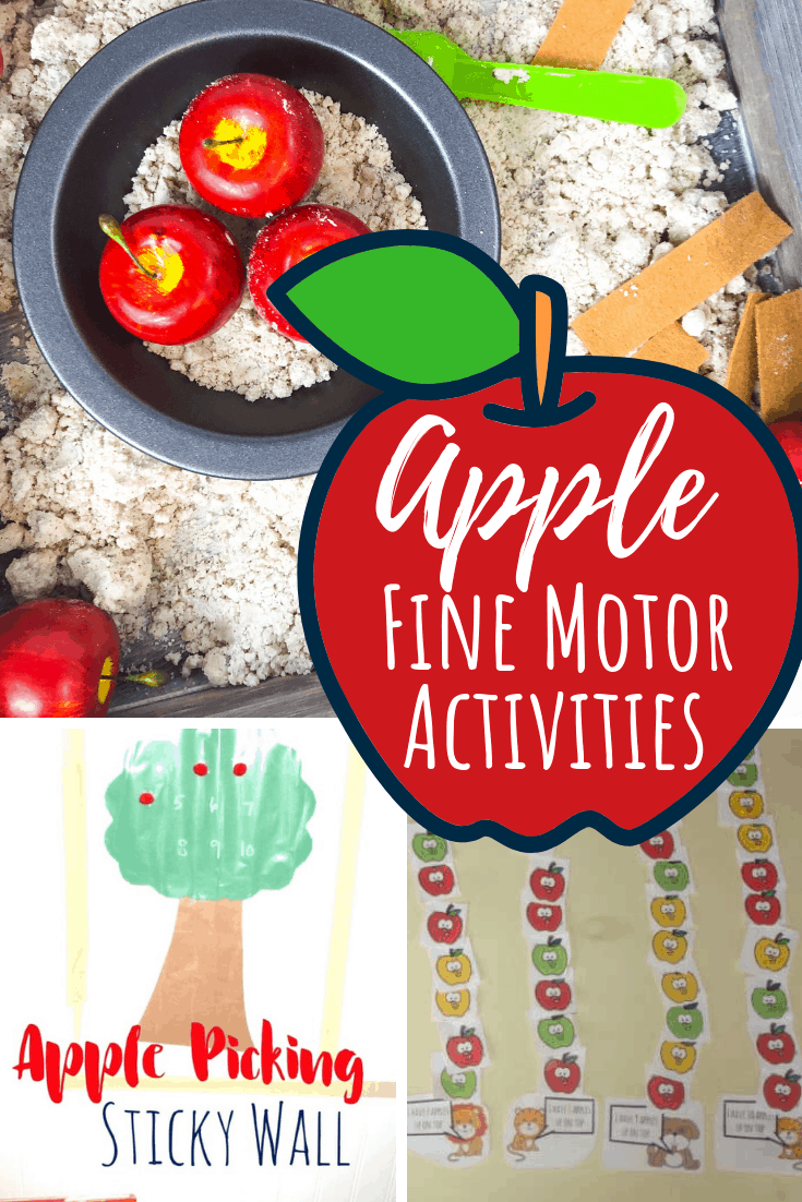 Apple Fine Motor Activities for Kids