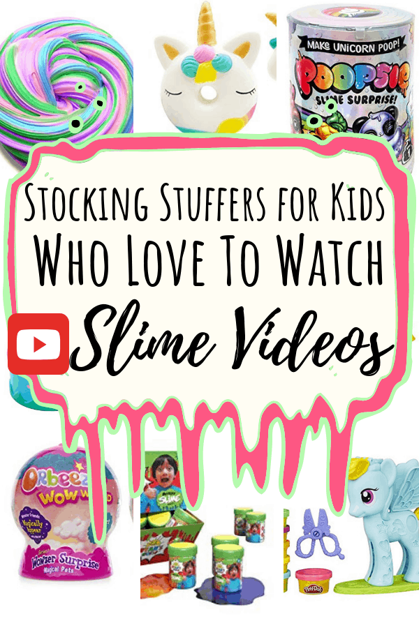 Stocking Stuffers for Kids who like unboxing slime pin e