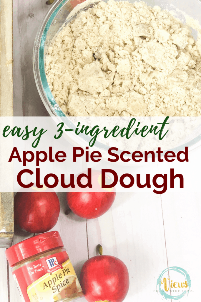 crumbly cloud dough and apple pie spice