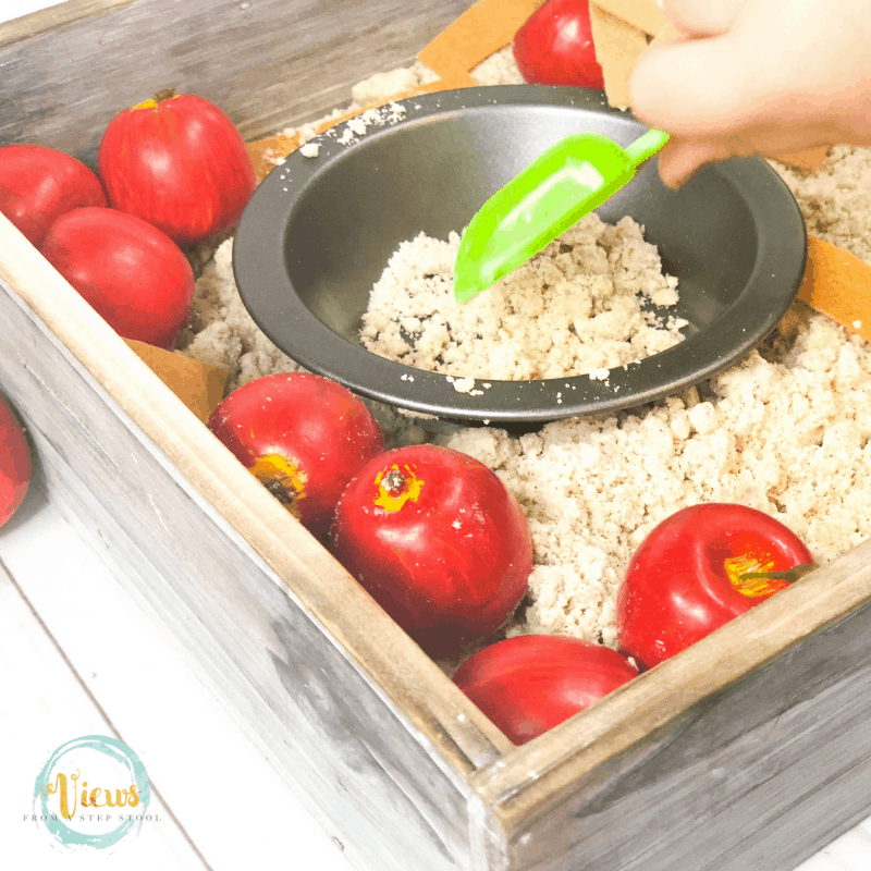 apple pie sensory bin square 3