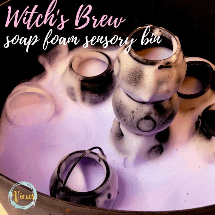 Witch's Brew Halloween Soap Foam Sensory Bin