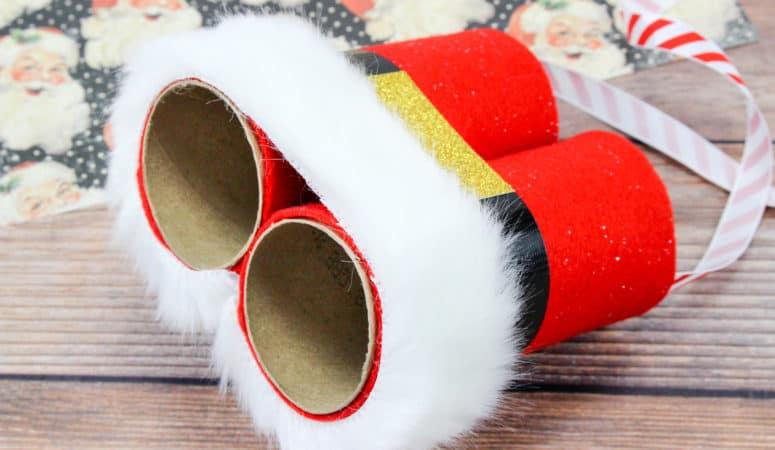 DIY Santa Binoculars: A Kid's Christmas Craft