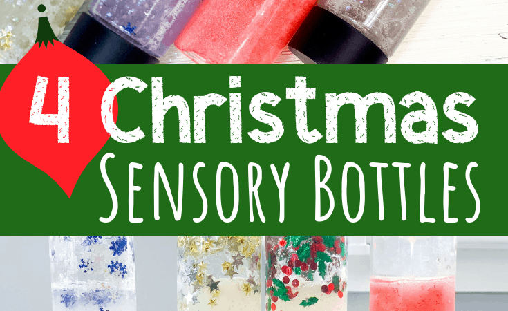 Christmas Sensory Bottles for Kids