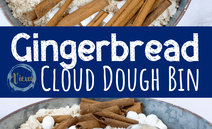 Gingerbread Cloud Dough Sensory Bin