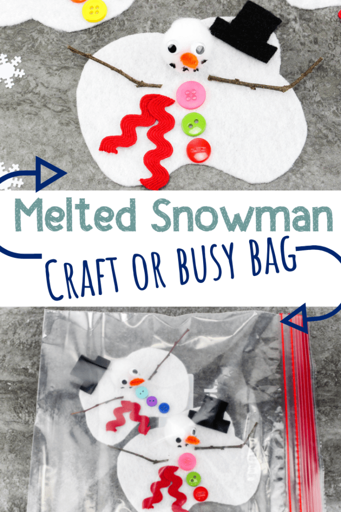 melted snowman craft pin 3