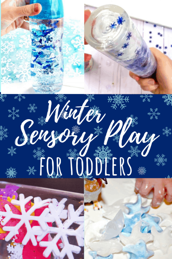 winter sensory play 1 year olds pin