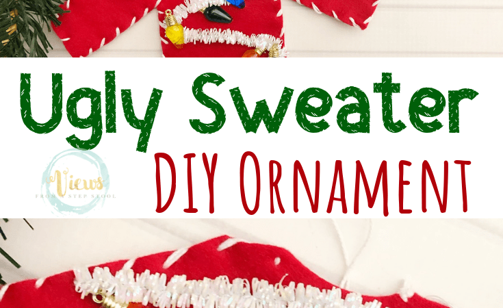Ugly Sweater DIY Christmas Ornament