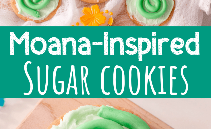 Moana Cookies with a Heart of Te Fiti Design