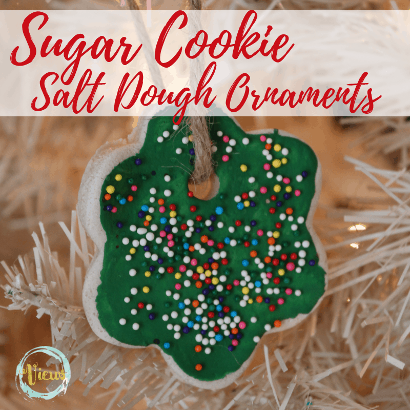 sugar cookie salt dough ornaments square