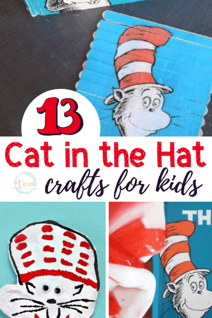 cat in the hat crafts pin 1