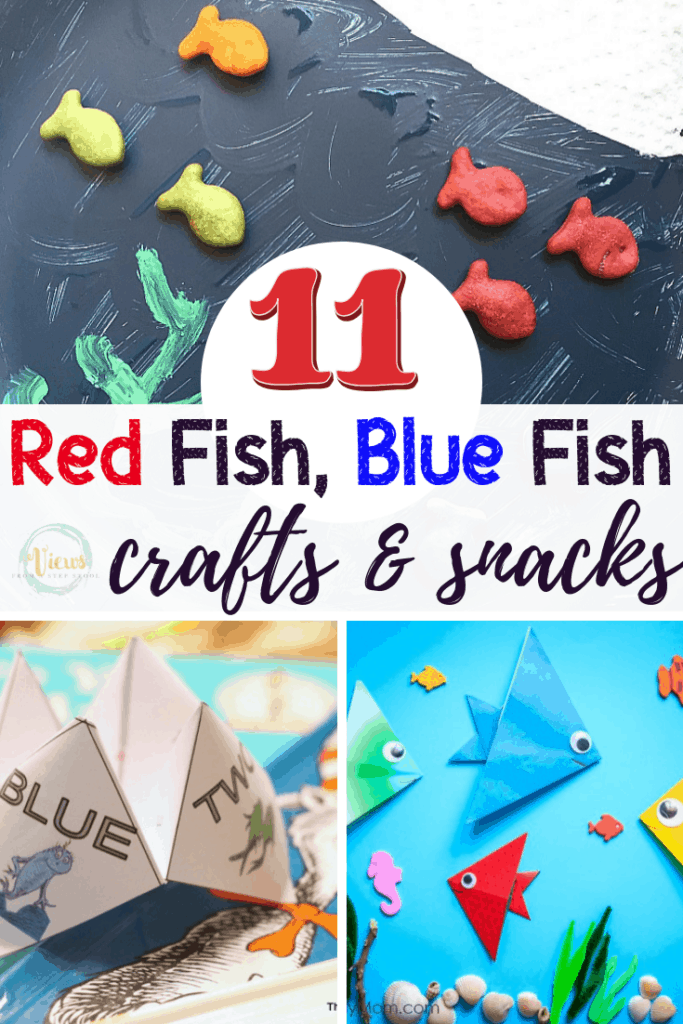 red fish blue fish crafts pin 1-2