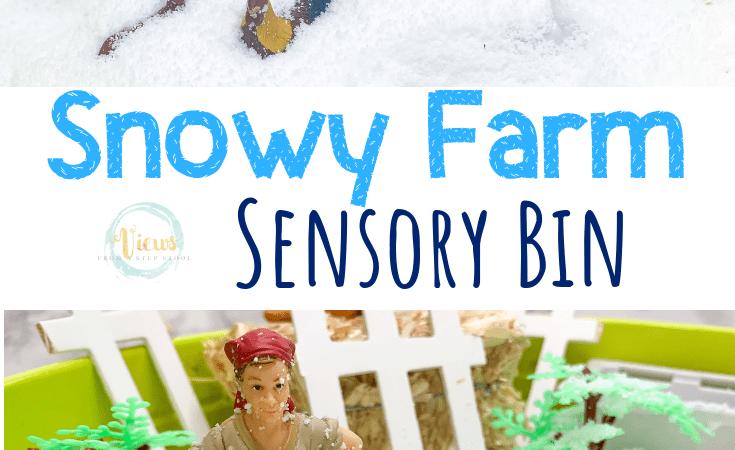 Winter Farm Fake Snow Sensory Bin