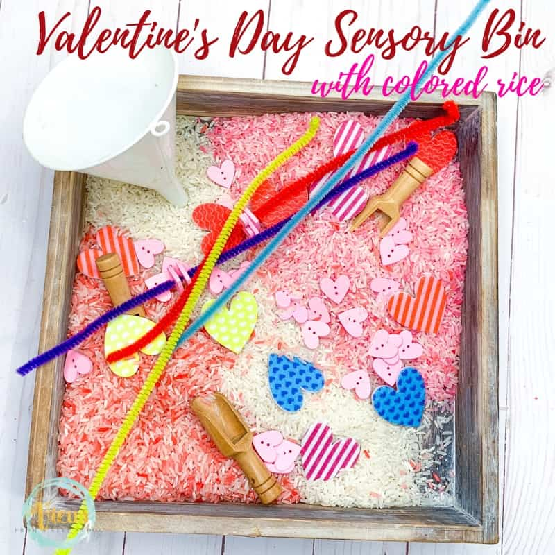 valentines day sensory bin square