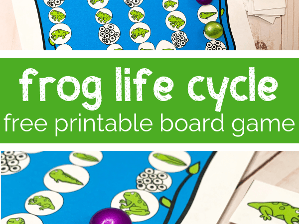 Frog Life Cycle Printable Board Game