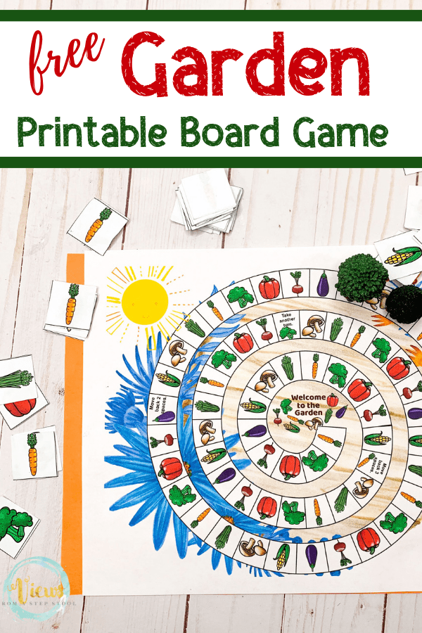 image about Printable Board Games for Kids identify Backyard garden Board Match Free of charge Printable - Viewpoints Against a Phase Stool