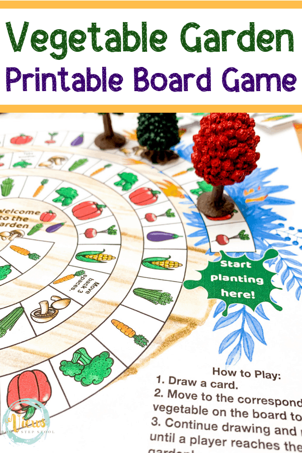 This free printable garden board game is perfect for kids ...