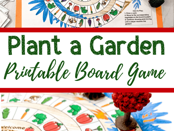 Garden Board Game Free Printable