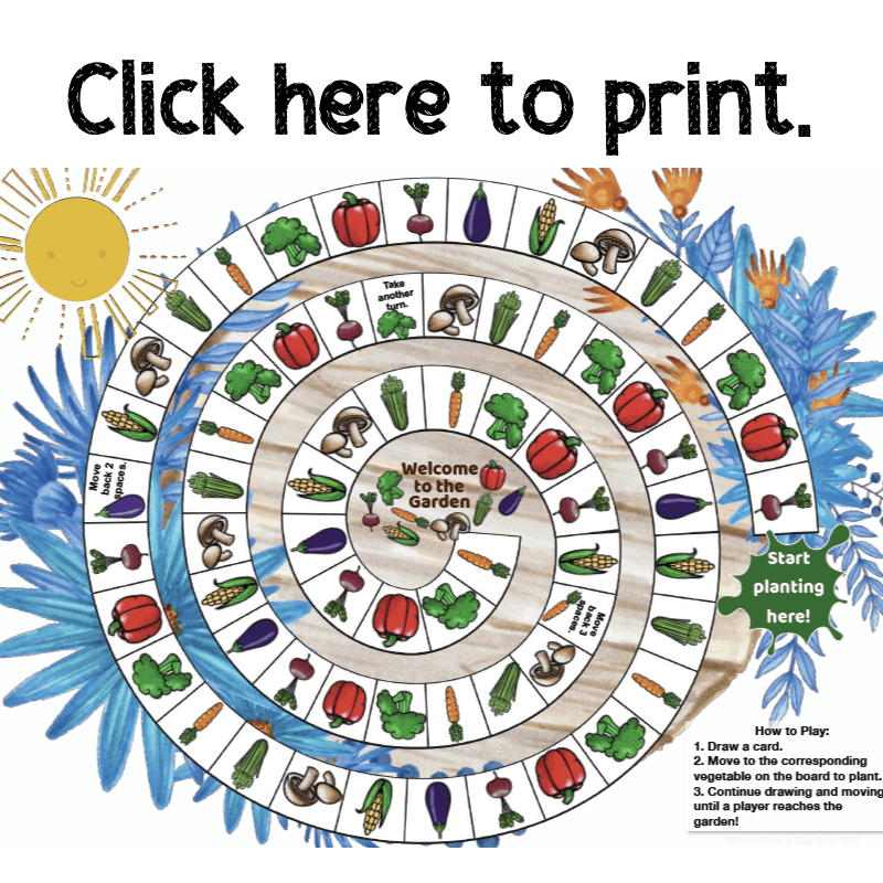 image about Printable Game Pieces named Back garden Board Video game Totally free Printable - Thoughts In opposition to a Move Stool