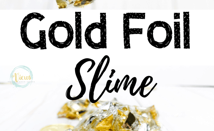 Gold Slime: Crunchy and Stretchy Clear and Gold Slime!
