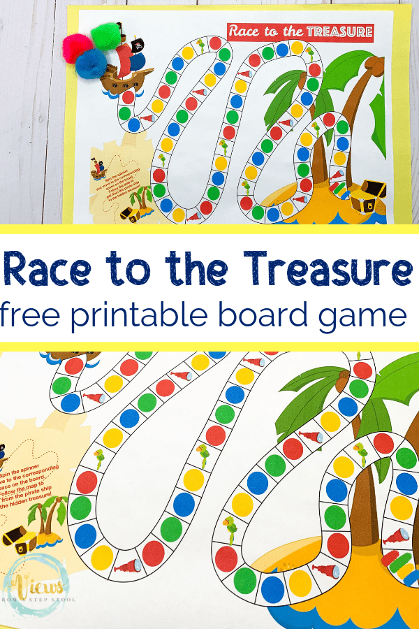 image about Printable Board Games referred to as Pirate Board Activity No cost Printable - Thoughts In opposition to a Action Stool