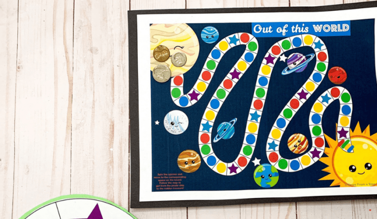 Solar System Board Game Free Printable