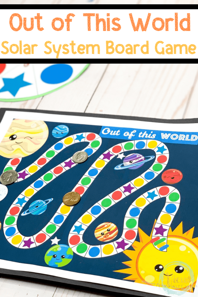 image relating to Printable Board Games for Kids titled Sunlight Process Board Sport No cost Printable - Opinions Against a Stage Stool