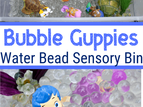 Bubble Guppies Water Bead Sensory Bin