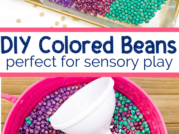 DIY Colored Beans for Sensory Activities