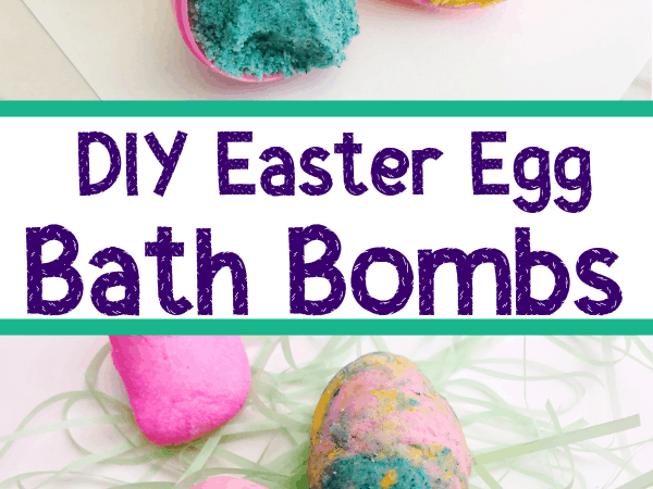 Calming Easter Bath Bombs with Lavender and Peppermint Essential Oils