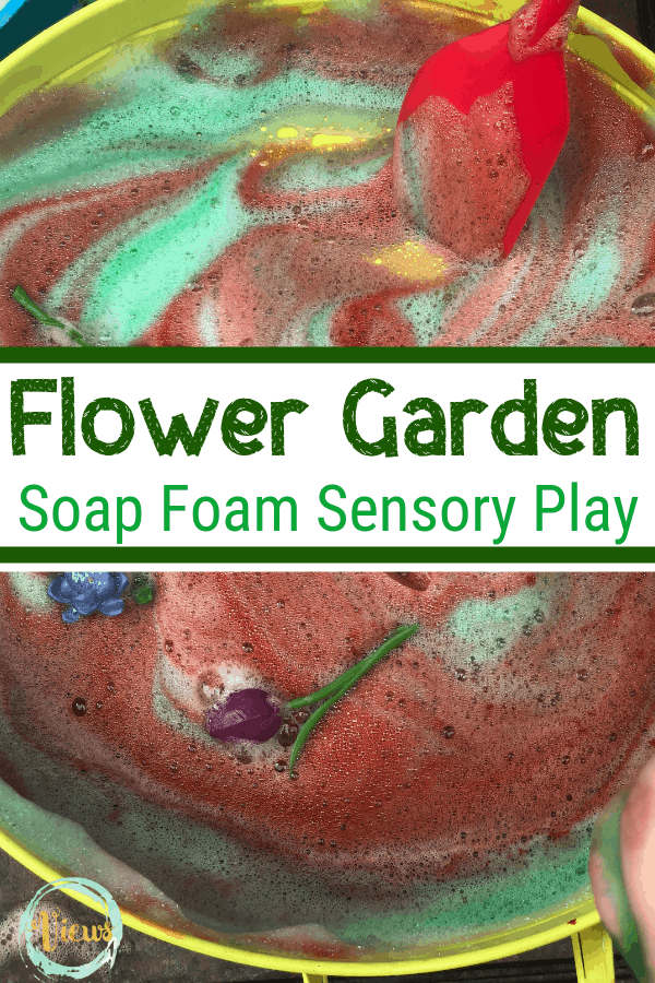 This soap foam sensory activity is one that everyone will enjoy! Not only does the texture feel great but the colors are really cool, too!