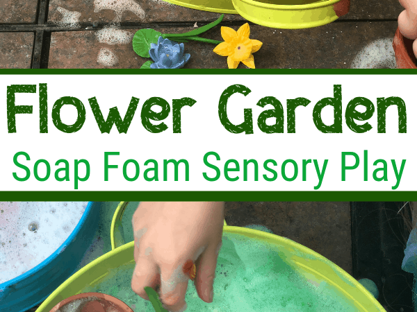 Flower Garden Soap Foam Sensory Play