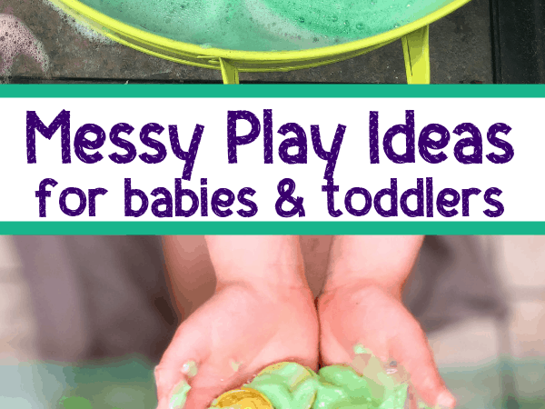 Messy Play Ideas for 1 Year Olds