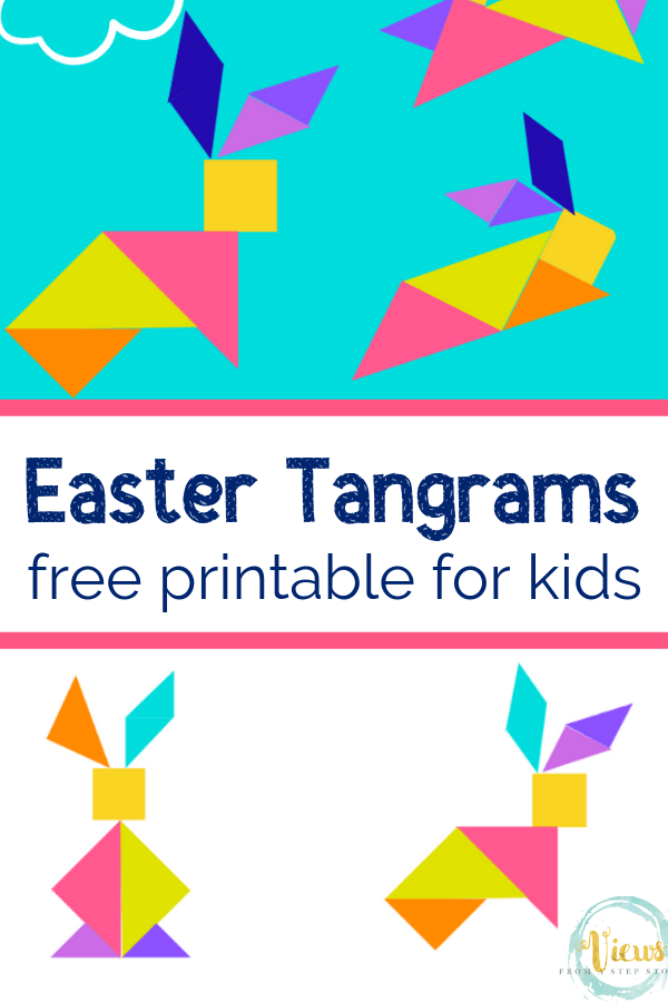 photo about Printable Tangrams titled Printable Tangrams for Easter - Thoughts In opposition to a Phase Stool
