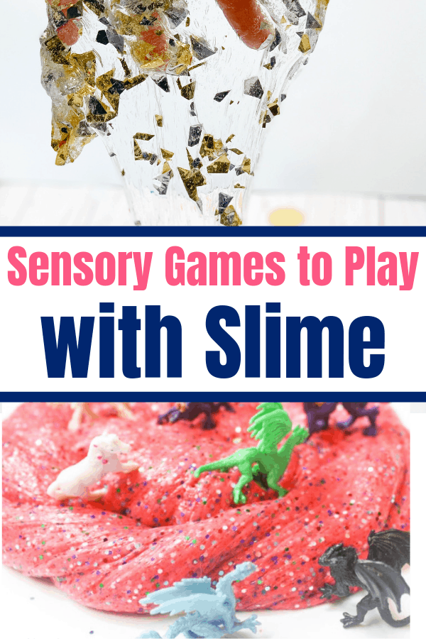 So many ideas for sensory games that use homemade slime. Never know what to do with all the slime your kids make? Here are 10 ideas.
