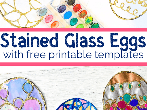 Stained Glass Craft: Watercolor and Glue Easter Eggs