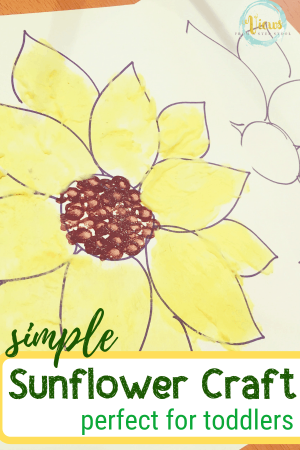 You'll love the ease of this Sunflower Toddler Craft! All you need are a few simple ingredients and your toddler's imagination to make it happen!