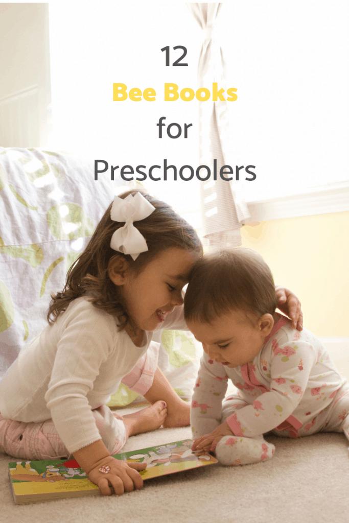 "text overlay ""12 bee books for preschoolers"""