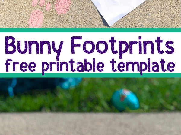 Easter Bunny Footprint Printable for Indoor or Outdoor Use