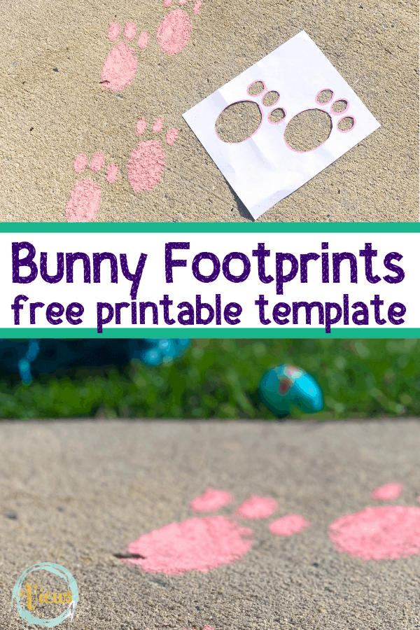 graphic about Printable Easter Bunny Footprints named Easter Bunny Footprint Printable for Indoor or Outside Employ