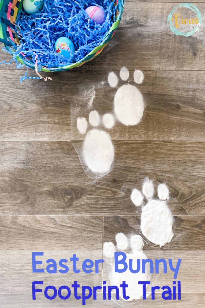 picture relating to Printable Easter Bunny Footprints titled Easter Bunny Footprint Printable for Indoor or Outside Retain the services of