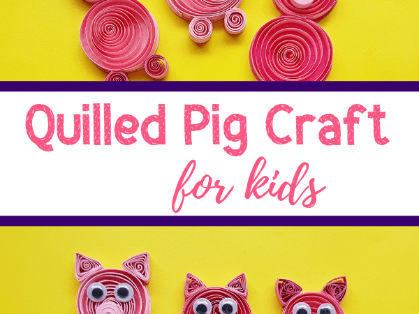 Three Little Pigs Craft: Quilled Paper Craft for Kids