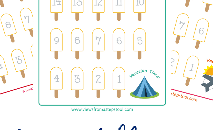 Summer Vacation Countdown Printables