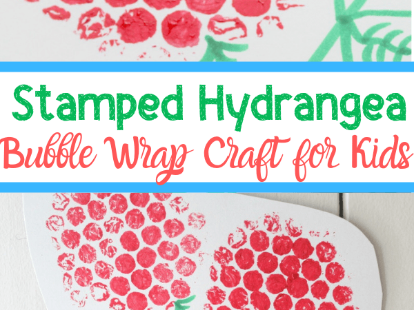 Stamped Hydrangea Bubble Wrap Craft for Toddlers