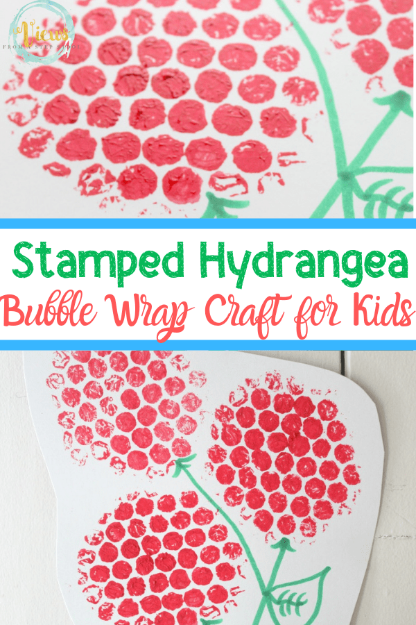bubble wrap craft with text stamped hydrangea bubble wrap craft for kids